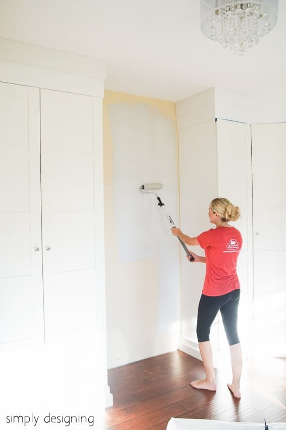 the perfect gray paint - paint a craft room