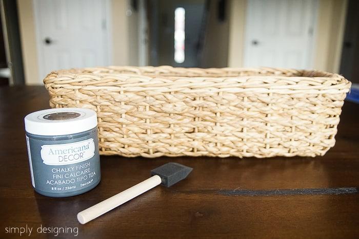 Color Blocked Basket Supplies