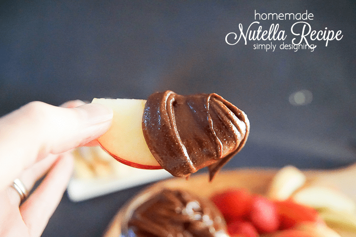 Homemade Nutella Recipe with Apples