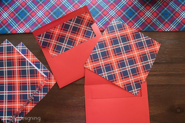 how to have a Stress-Free Christmas - christmas card plaid liners