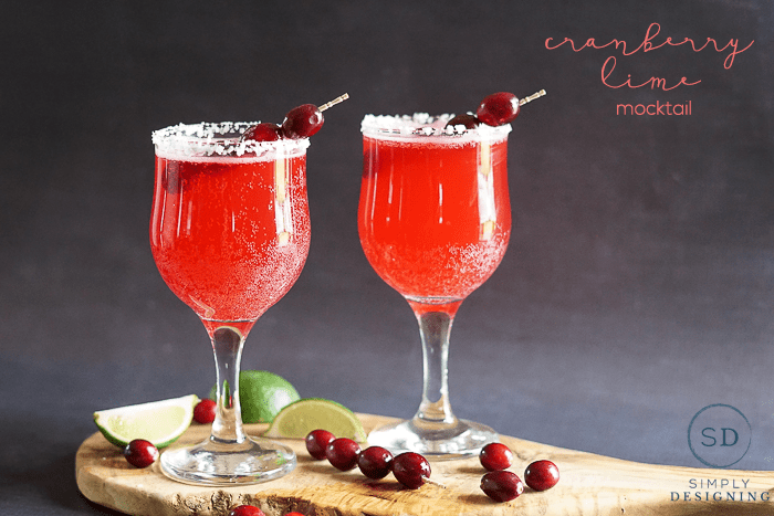 Cranberry Lime Mocktail for the holidays