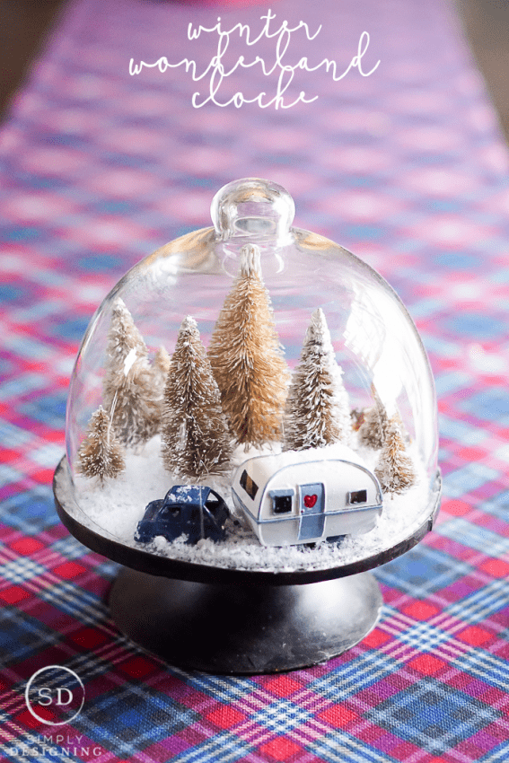 DIY Winter Wonderland Cloche - cute and easy winter craft