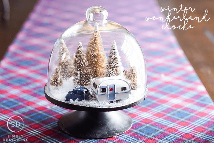 Easy DIY Winter Wonderland Cloche