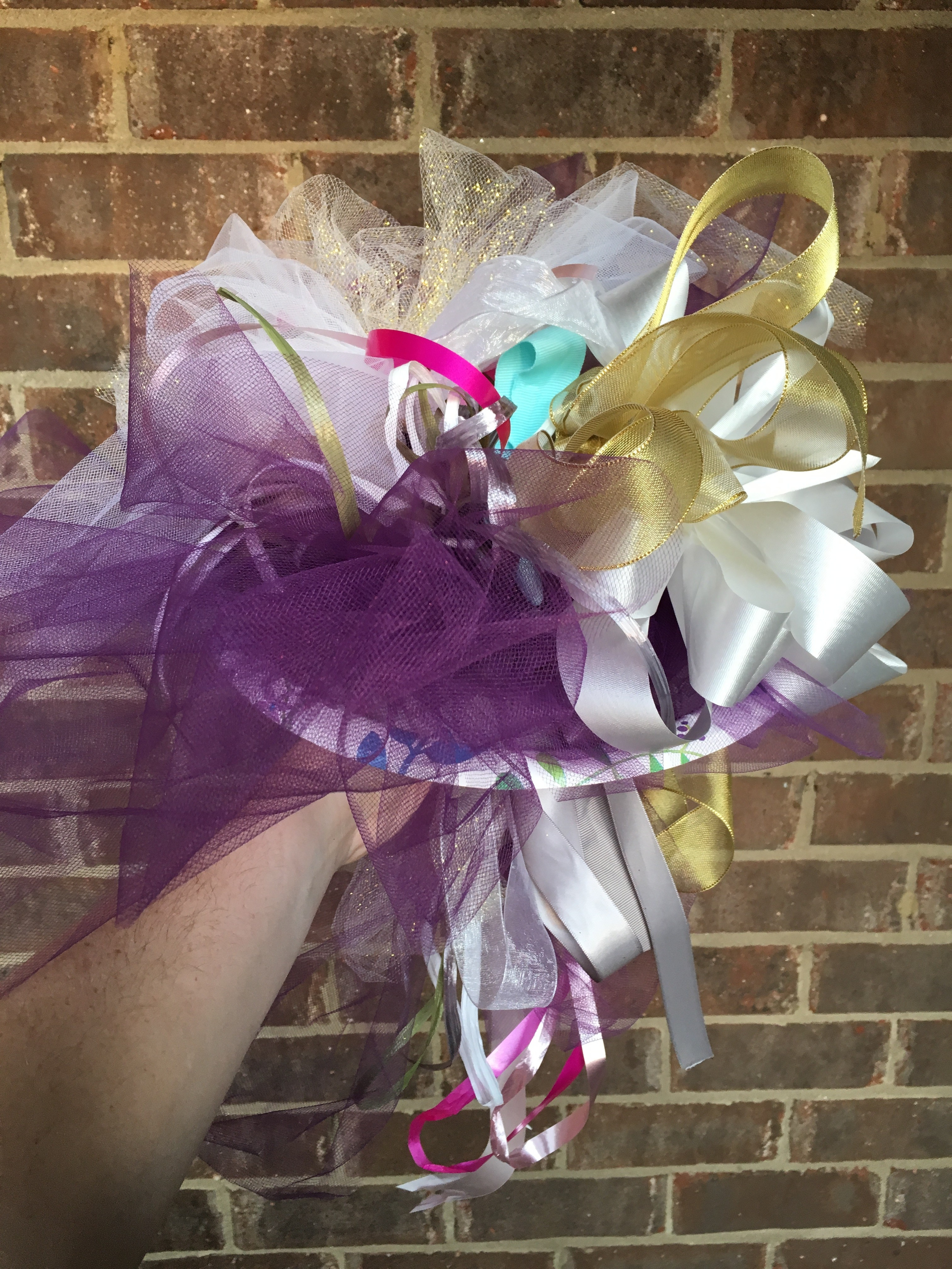 bridal shower ribbon bouquet