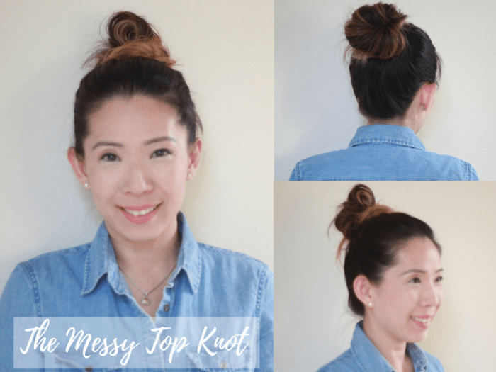 the-messy-topknot hairstyles