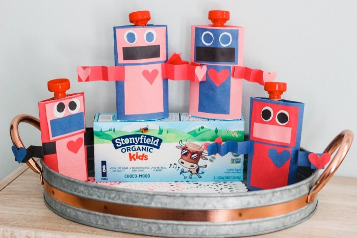 Yogurt Pouch Robot Craft
