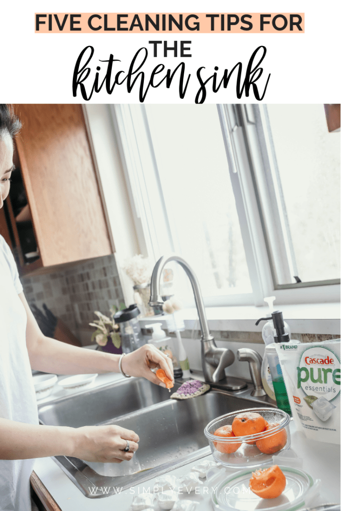5 cleaning tips for the kitchen sink