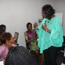 Mrs. Fayo Williams addressing the trainees