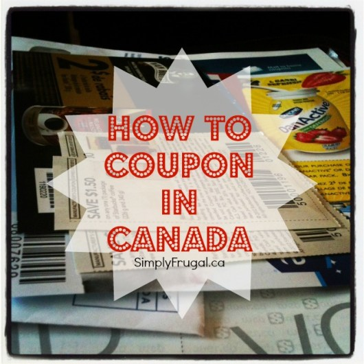 how to coupon in Canada