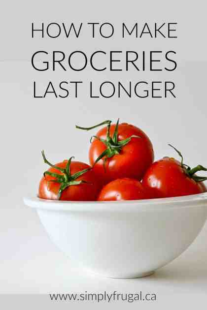 Groceries just don't seem to last long enough, but there are ways to make them last much longer! Read this for some great tips.