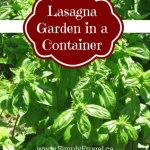 Create a Lasagna Garden in a Container
