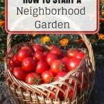 How to Start a Neighborhood Garden