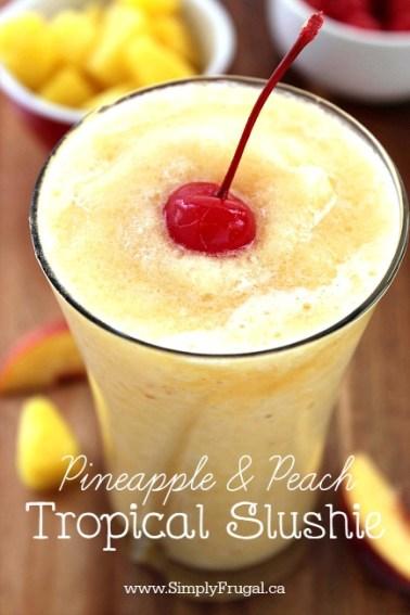 Pineapple and Peach Slushie