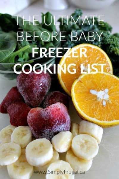 Have your meals taken care of with this Ultimate Before Baby Freezer Cooking List! The post includes a great printable recipe and shopping list pack.