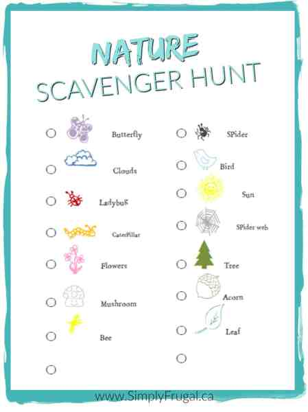 Looking for a fun outdoor activity that will get the kids excited? You've got to print out this Nature Scavenger Hunt then! It will get the kids running all over the place discovering exciting things that can be found in nature.