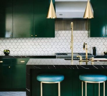 Trends To Stay  Green   Gold in the kitchen  bathroom  living room     Trends To Stay  Green   Gold in the kitchen  bathroom  living room and more