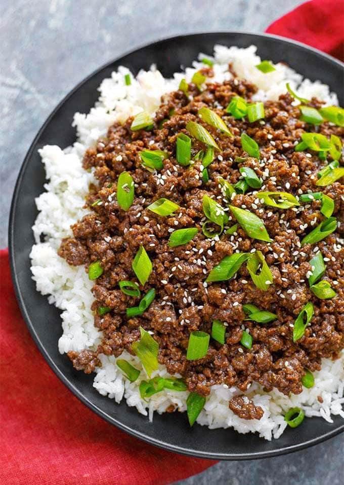 Ground Turkey Instant Pot Meals : Instant Pot Korean Ground Beef | Simply Happy Foodie