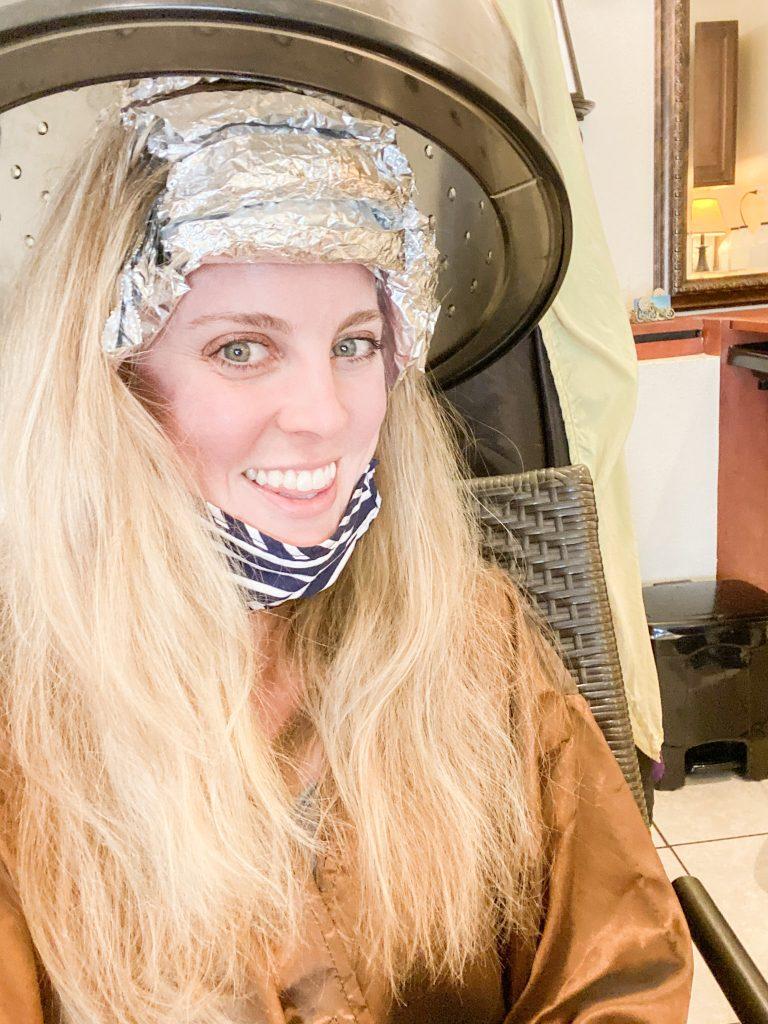 Holley at the hair salon