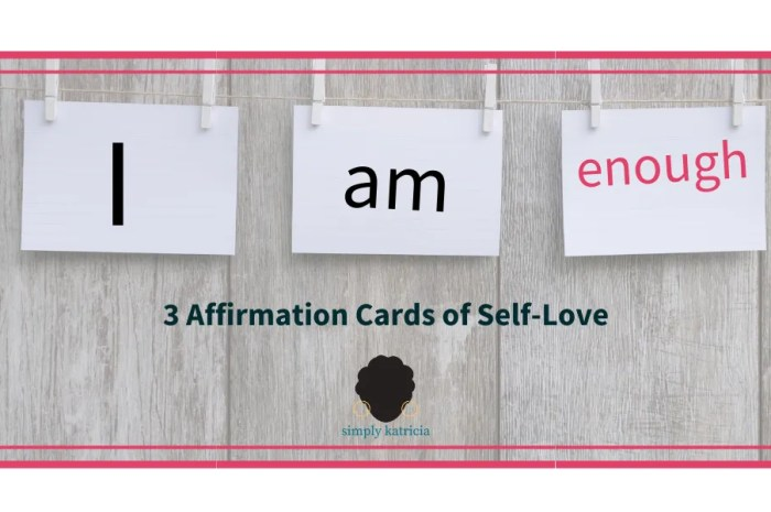 3 Affirmation Cards of Self-Love