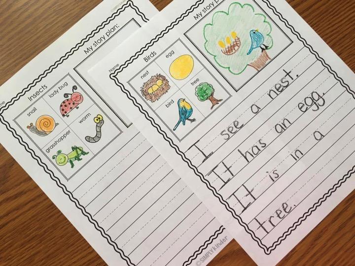 kindergarten writing journals