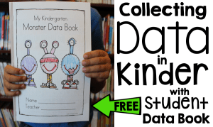 Free data book and tips for collecting data in early childhood education! #SimplyKinder
