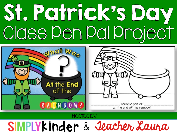 St. Patrick's Day Printable, Pen Pal Project, Simply Kinder
