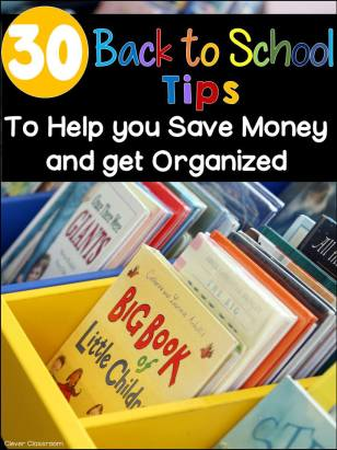 30 Money Saving and Organizing Tips for Back to School!