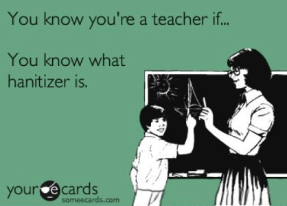 """You know you are a teacher if you know what """"hanitizer"""" is! Great post about how much school supplies your classroom will need for the year!"""
