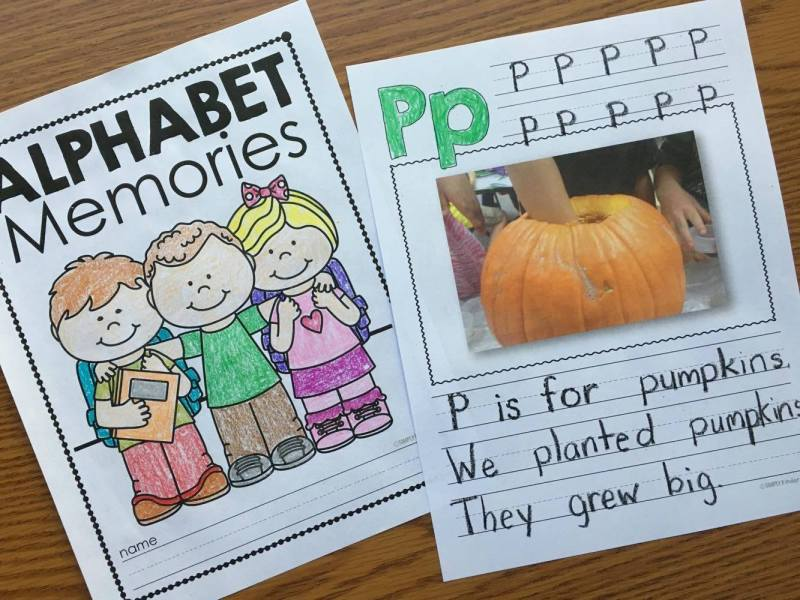 Editable Alphabet Memory Book