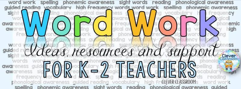 The Best Facebook Groups for Teachers - Word Work Ideas for the k-2 classroom.