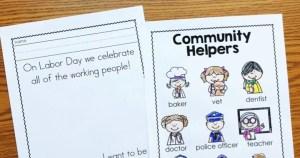 Free Labor Day Printables for Kindergarten