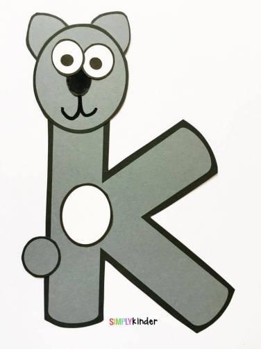 Alphabet Notebooks with Lower Case Alphabet Crafts and Printables - Letter K Alphabet Craft