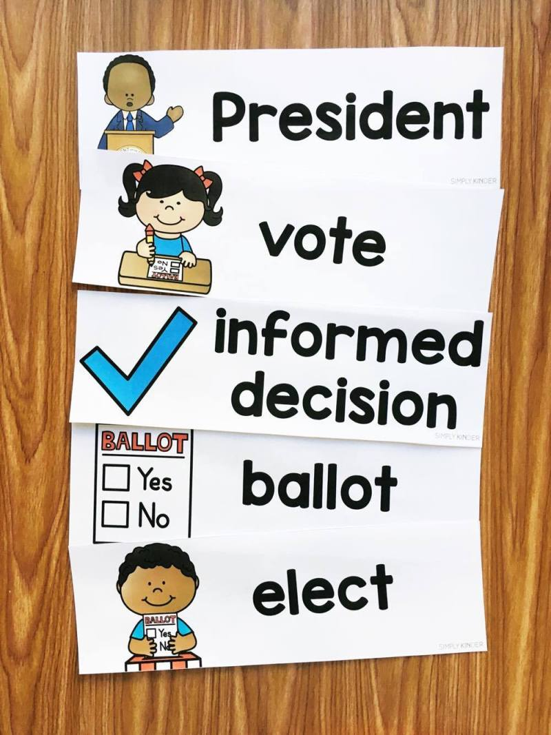Election Day Vocabulary for Kindergarten and First Grade