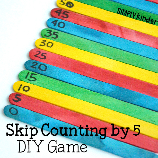 Skip Counting by Five DIY Game