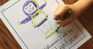 Free Costume Story Printable from Simply Kinder