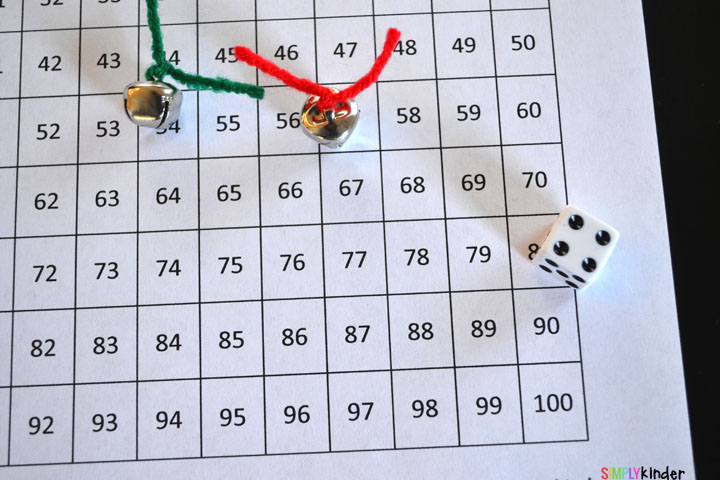 Jingle All the Way to 100 Hundred Chart Game