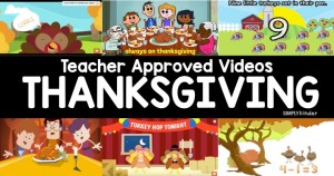 A teacher approved list of Thanksgiving videos for kids. These are perfect for preschool, kindergarten, and first grades.