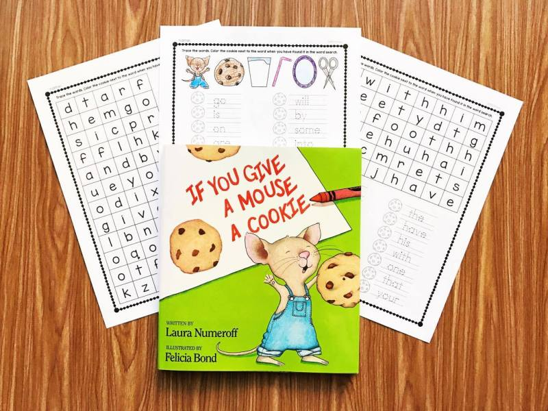 If You Give a Mouse a Cookie Activity perfect for kindergarten and first grade students to practice sight words.