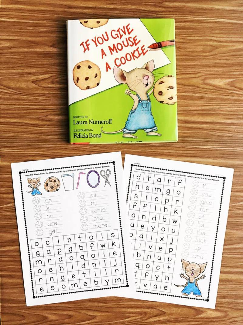If You Give A Mouse A Cookie Word Searches