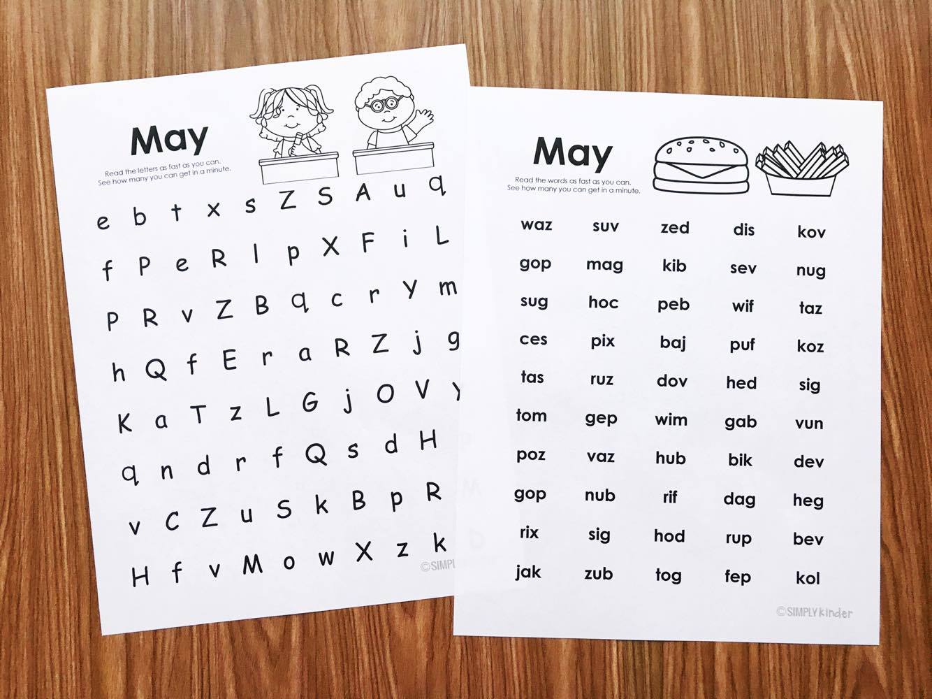 May Fluency Printables