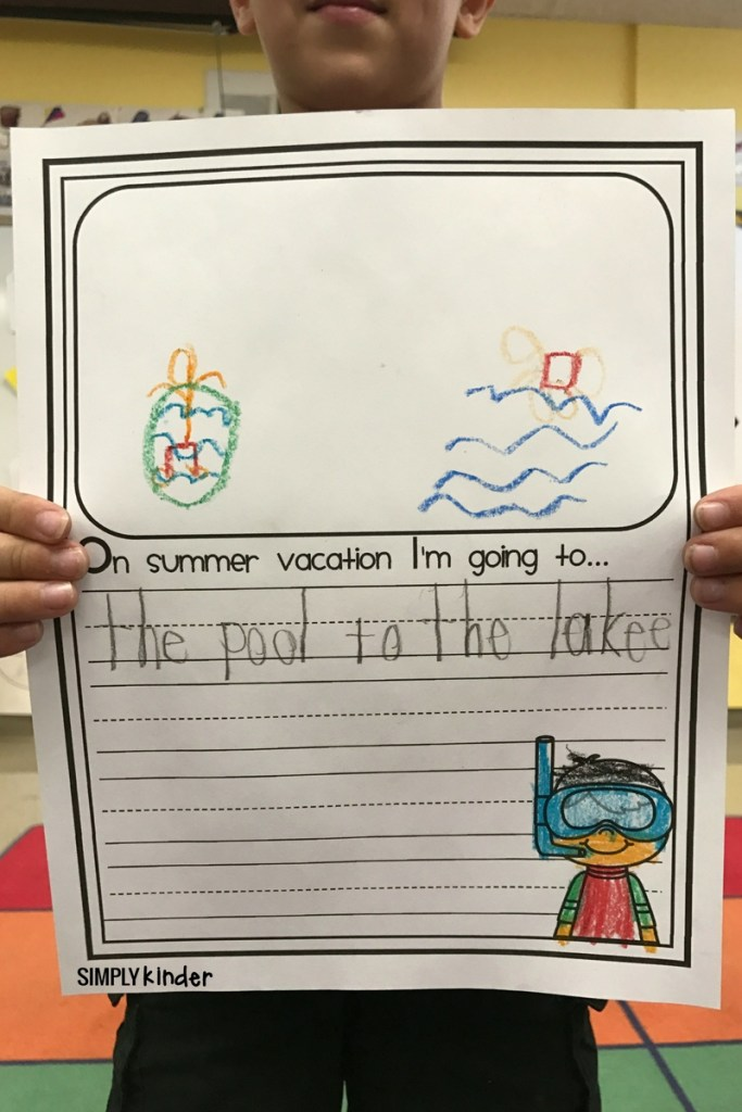Summer Vacation Writing Pages