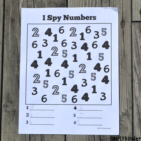 I Spy Numbers Free Printable Work on counting and number recognition with this fun I Spy Numbers free printable. Use it as it's intended or try one of the fun extension ideas.
