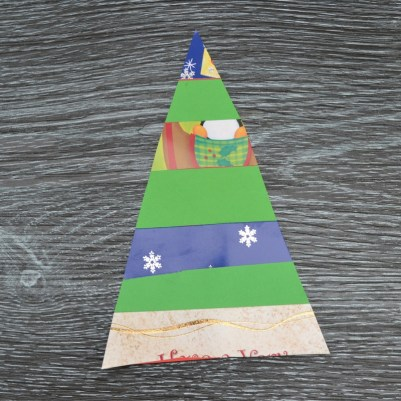 simply kinder recycled christmas card step 3