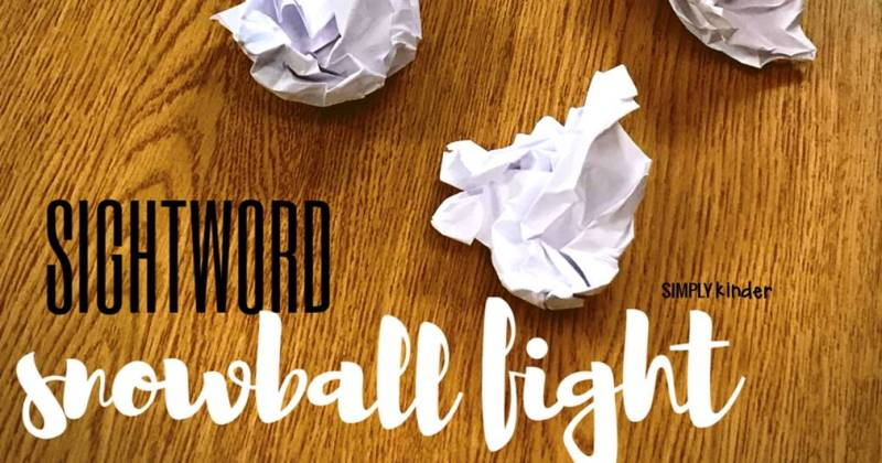 Here is a fun way to practice your sight words in your classroom during the winter time! I love using this sight word snowball fight with my kindergarten students to have fun with snow during January and February!