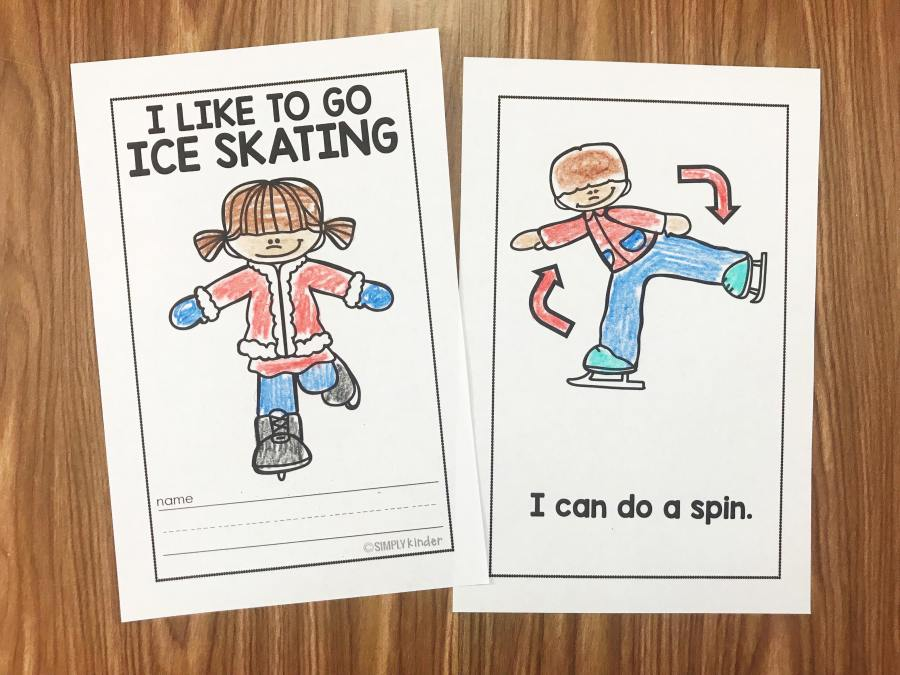 Are you ready to learn more about winter sports?  Our Winter Sports Easy Readers come with several sports that have super simple sentences about the sport.  Perfect for preschool, kindergarten, and first grades from Simply Kinder.