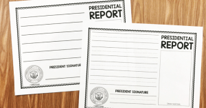 Here is a quick and easy way for your students to write about the president.  Use this free President Report to either reflect on what your students would do if they were president OR to record facts about a certain president.