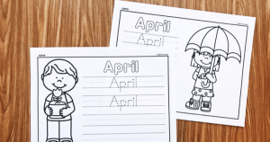 Teach your students to write the word March with these free April Writing Printables from Simply Kinder. Perfect for kindergarten and first grade students.