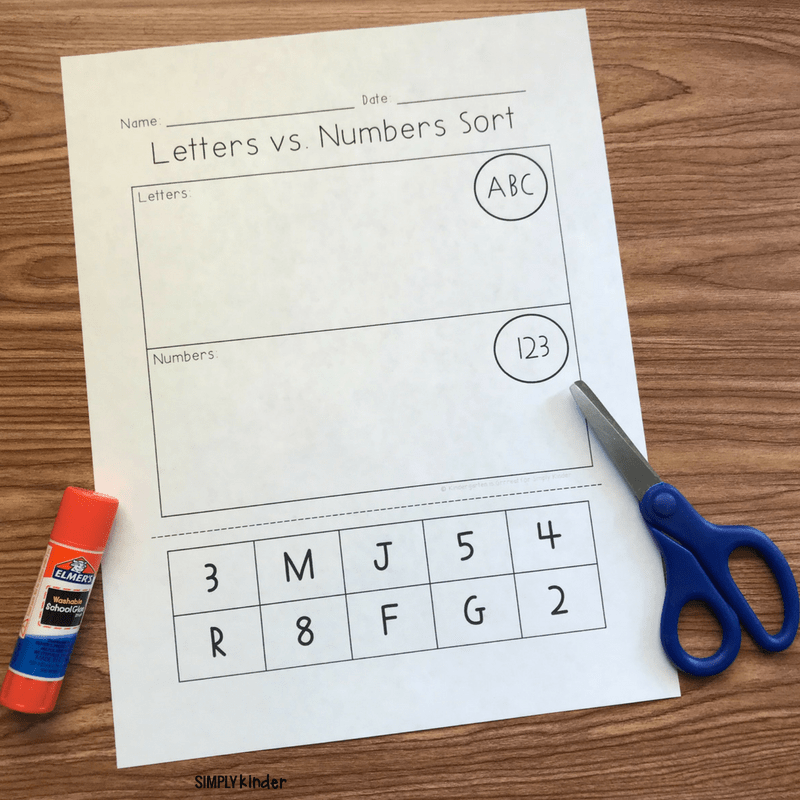 Letters and Numbers free printable