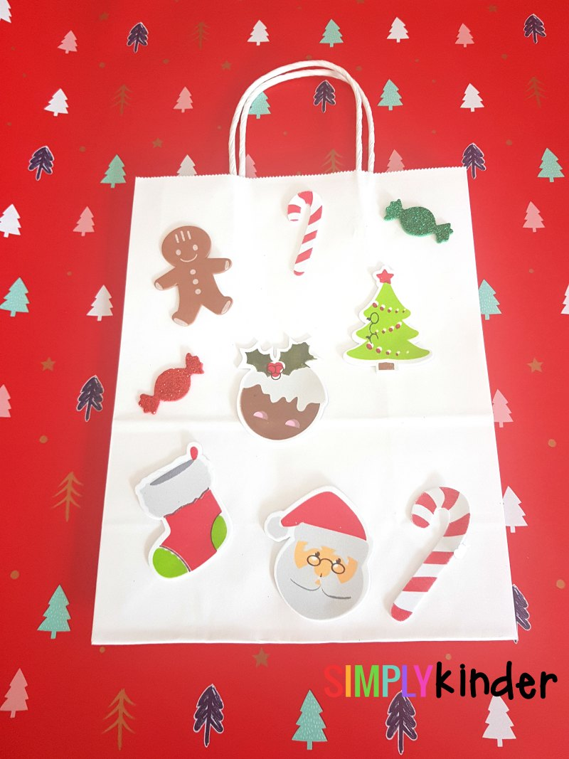 easy sticker gift bags finished product with logo