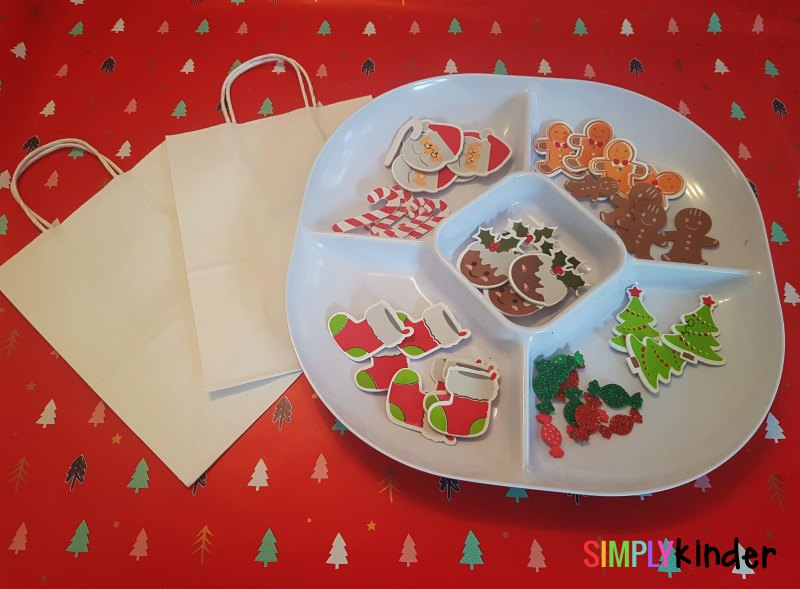 easy sticker gift bags for christmas set up 1